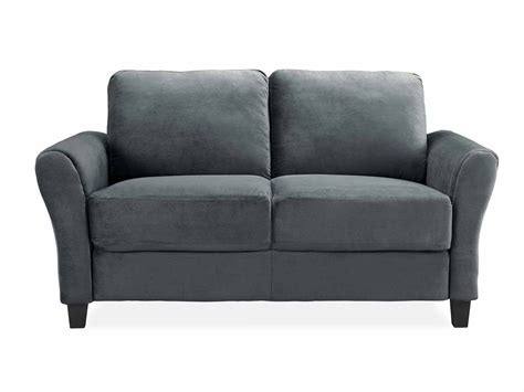 And Loveseat by Westin Grey Loveseat With Rolled Arm By Lifestyle
