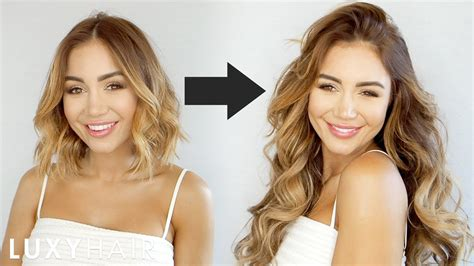 styling hair with extensions how to clip in and blend hair extensions with hair 2446