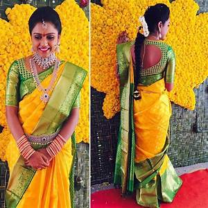 50+ Mind blowing Blouse Designs for Wedding Silk Sarees • Keep Me Stylish