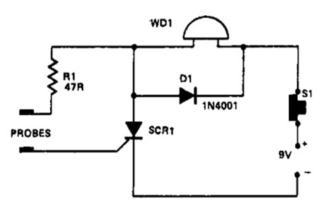 Simple Water Level Indicator Circuit Schematic With