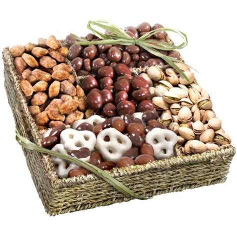 organic gift baskets mendocino organic chocolate and nuts gift basket gourmet