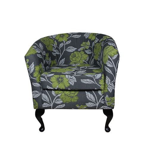 Lime Green Armchair by Tub Chair Armchair In A Lime Green Grey Floral Fabric