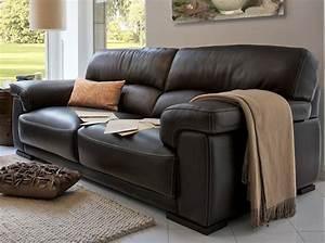 les nouveaux canapes en cuir elle decoration With canapé cuir couture apparente