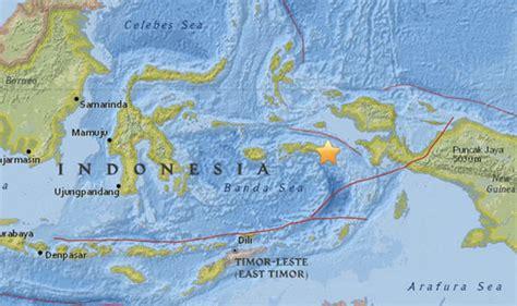 indonesia earthquake  quake strikes  ring  fire