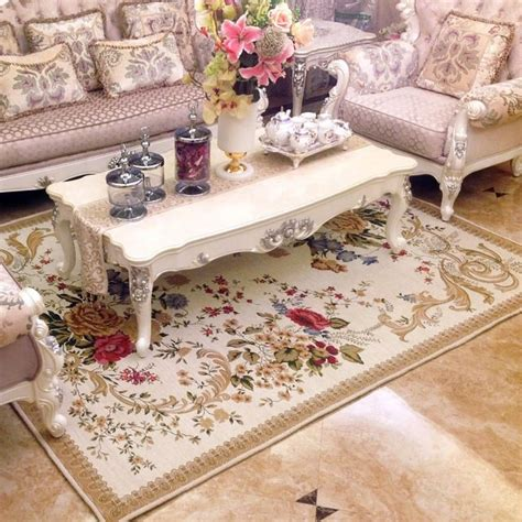 grand britannique simple paysage rural tapis pour salon