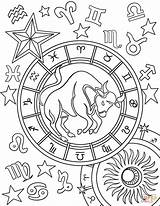 Zodiac Taurus Coloring Pages Sign Aries Sagittarius Signs Printable Astronomy Sheets Star Adult Gemini Adults Symbol Supercoloring Onlycoloringpages Para Tauro sketch template
