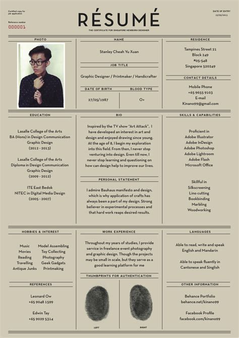 Design Of Resume by 15 Beautiful Resume Designs For Your Inspiration