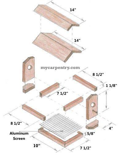 wooden bird feeder plans  easy