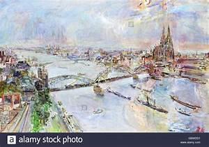 Künstler Aus Köln : bildende kunst kokoschka oskar 1886 1980 malerei 39 ansicht der stadt k ln vom messeturm aus ~ Markanthonyermac.com Haus und Dekorationen