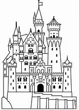 Castle Coloring Disney Princess Pages Magical Bring sketch template