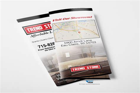 tri fold brochure for granite countertop company 187 profit