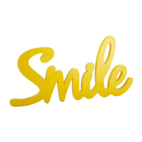 4 bed house smile wooden wall decoration in yellow w 93cm maisons du