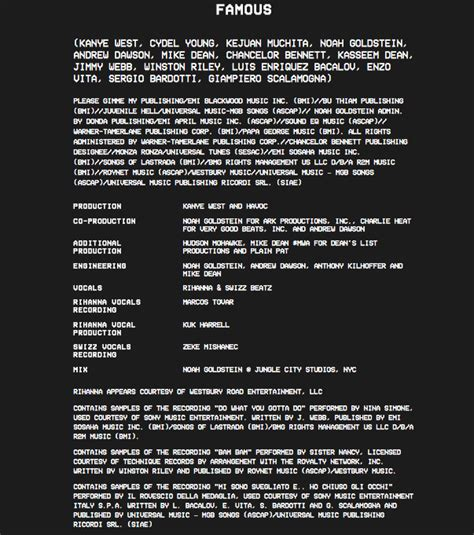 the life of pablo template kanye west has released quot the life of pablo quot album credits