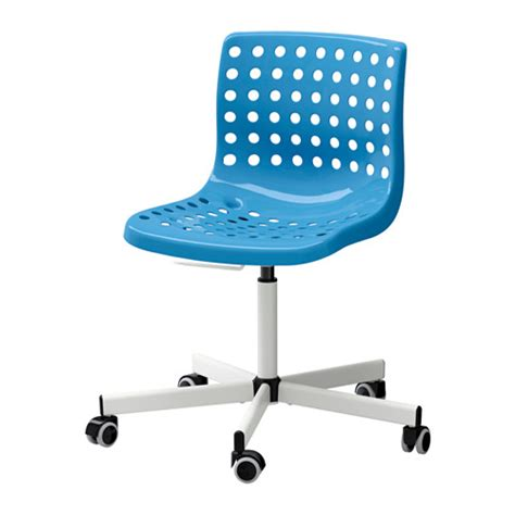 sk 197 lberg sporren swivel chair blue white ikea