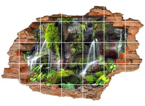Fliesenaufkleber Natur by Fliesenaufkleber Wanddurchbruch Natur Regenwald Wasserfall