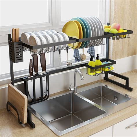 metal rack for kitchen sink black stainless steel kitchen rack sink sink dish rack