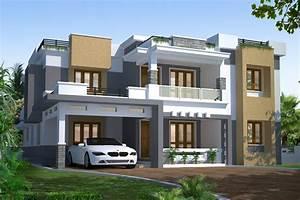 Modern, Kerala, Contemporary, Home, Design, 2710, Sq, Ft