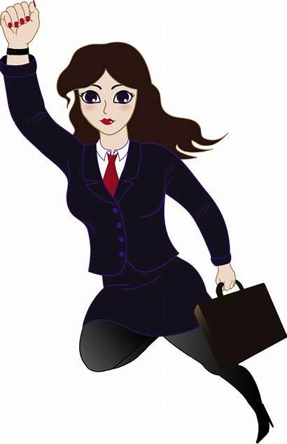 Clipart Superwoman Business Clip Woman Super Clipartion