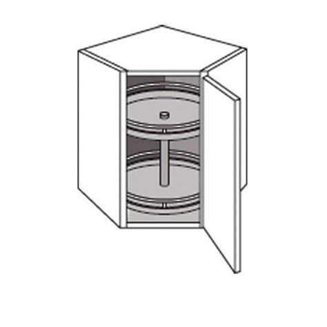 meuble d angle haut cuisine meuble de cuisine haut d 39 angle avec 2 plateaux twist cuisine