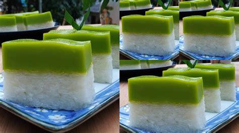 1/2 sendok teh pasta pandan; Resep Kue Talam seri muka by mylittleprinceirham - Contempo