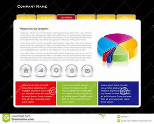 Simple website template stock image image 31709521 for Simple homepage template