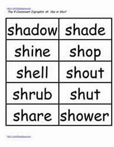 Digraphs: ch, sh, etc. Worksheets