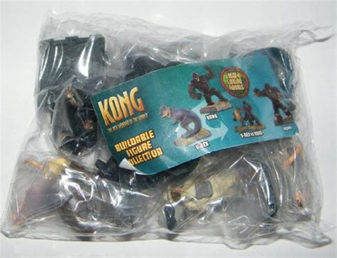 King Kong Movie Buildable Figure Set of 8 Rare with T Rex