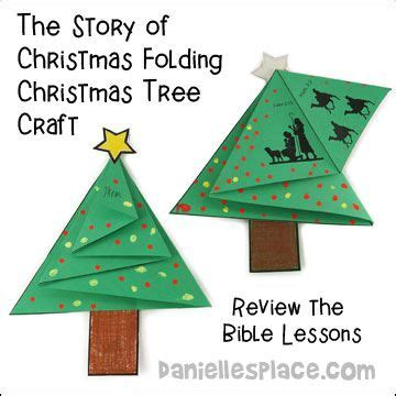 quot the story of christmas quot folding christmas tree card craft