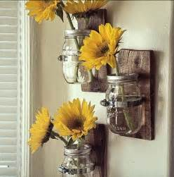 Beach Glass Bathroom Accessories by Pallet And Mason Jars Wall Vases 101 Pallets
