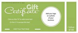 Gift certificate template with logo for Gift certificate template with logo