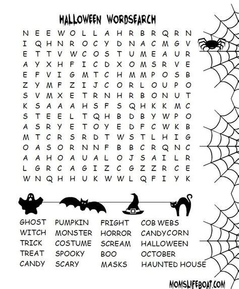 halloween word search moms lifeboat halloween word