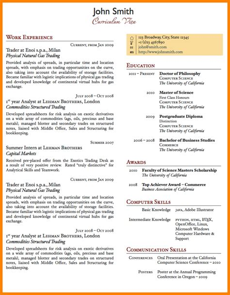 Pages Resume Templates by 5 Best One Page Resume Templates Professional Resume List