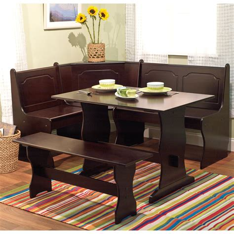 Kitchen Table Set With Bench by Target Marketing Systems 3 Breakfast Nook Dining Set