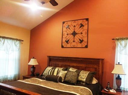 14350 burnt orange bedroom burnt orange accent wall looks against yellow as
