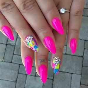 Gel Nail Designs Neon Pink – Nail Ftempo