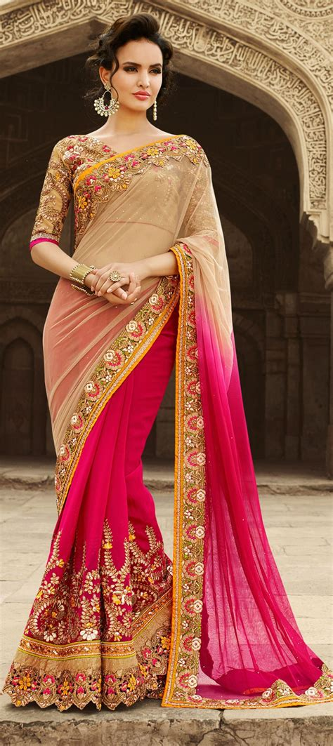 Pakistani and Indian Designer Party Wear Saree Collection 2017-2018 - Style Collectx