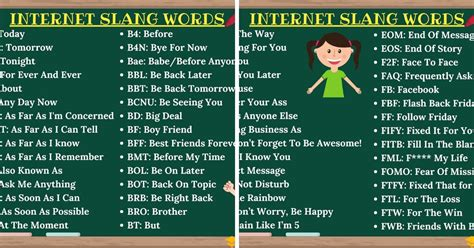 internet slang thousands  trendy internet slang words