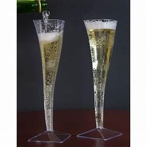 Flute A Champagne : fineline wavetrends 1205 clear plastic 5 oz champagne flute 6 pack ~ Teatrodelosmanantiales.com Idées de Décoration