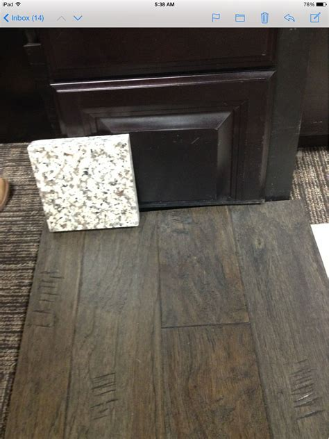 """Maple espresso cabinets, Armstrong 5"""" engineered wood"""