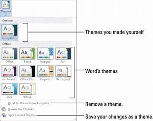 How to use themes in word 2013 dummies for As built software documentation