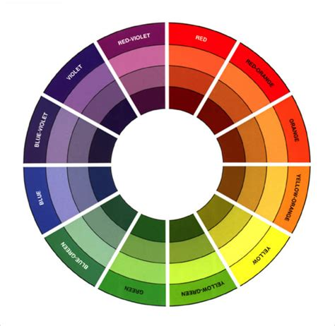 color chart wheel 8 sle color wheel charts sle templates