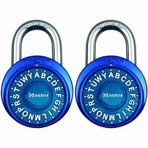 master lock preset 3 digit letter dial combination padlock With 3 letter lock