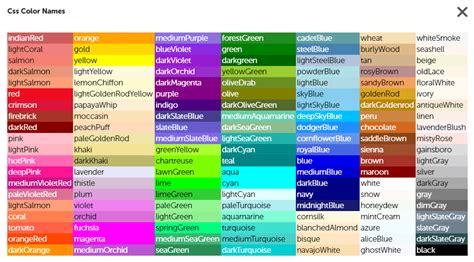 color codes css 28 images best css web colors codes scheme chart techora css color 28