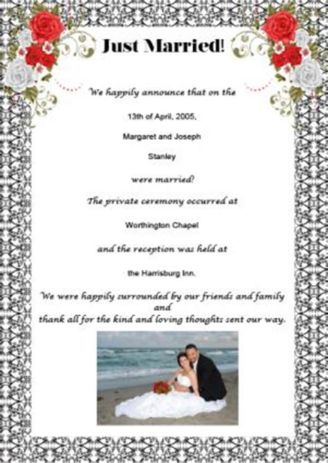 samples  wedding announcement wording lovetoknow
