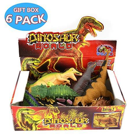 Dinosaur Toys,8 Inch Rubber Dinosaur Set(8 Pack),Food