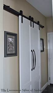 Barn doors for the laundry room for Barn door for laundry closet