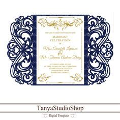 5x7'' invitation template + Rsvp SVG DXF ai CRD eps