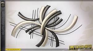 Deco Murale Metal : d co murale moderne de style abstrait en m tal noir et argent ~ Voncanada.com Idées de Décoration