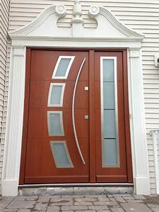 Modern Exterior Front Doors With Frosted Glass Sidelite ...
