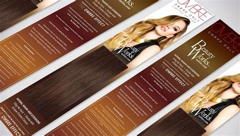 packaging branding design  ombre  hair extensions